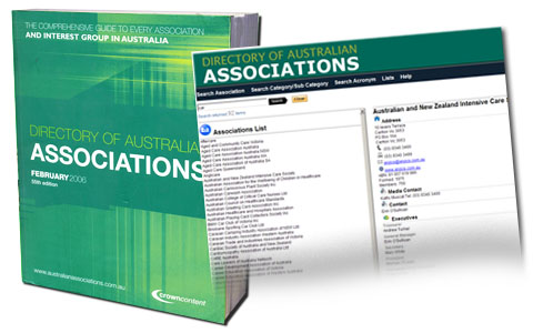 Using the marketing Directory of Australian Associations